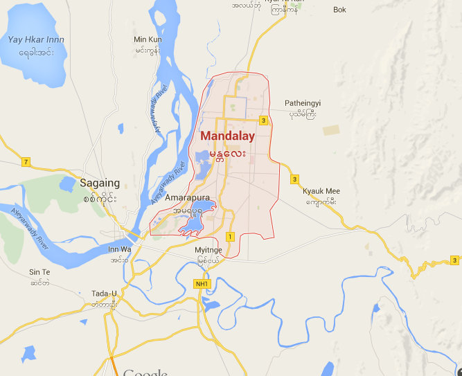 MAP 1-Mandalay Cycling