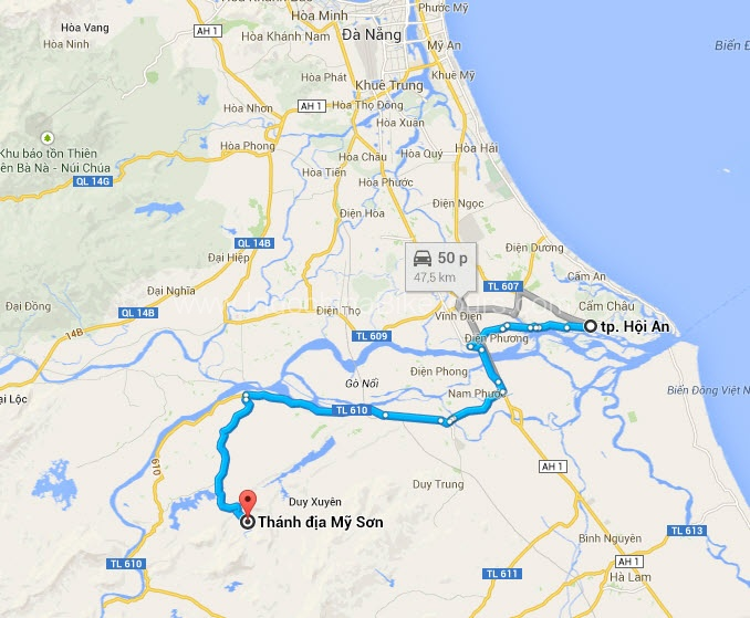 Map - Hoi An Cycle To Hoi An