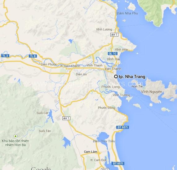 Map of Nha Trang